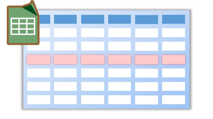 [Google]スプレッドシートの条件付き書式で行全体に色付けする
